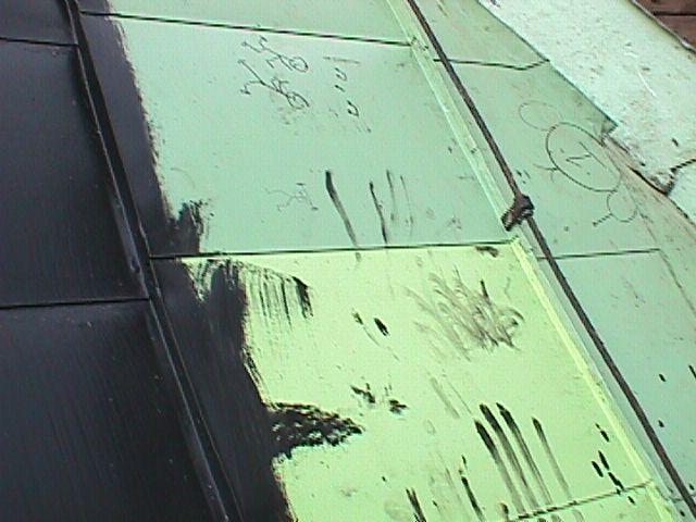 Måla linoljefärg på akrylatfärg
